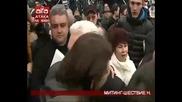 Шествието на Атака пред министерствата и реч на Волен Сидеров на митинга по повод 3-ти март 2014