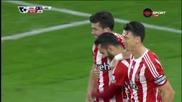 Попадението на Шей Лонг за 4:0 за Саутхемптън срещу Арсенал