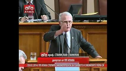 проф. Станислав Станилов: дпс вие ще останете без електорат гарантирам ви. Тв Alfa- Атака 28.02.2014