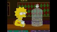 Lisa Is Drunk From Milk At Moes