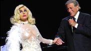 Lady Gaga Meets Prince Harry in Cleavage Baring Dress
