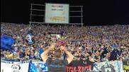 Levski Sofia - Lazio coro As Roma Merda