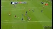 Arsenal Vs Manchester United Samir Nasri 2 - 0