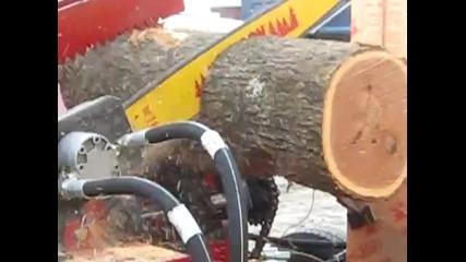 Бърз и качествен начин за рязане и цепене на дърва...