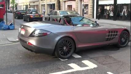 Mclaren Mercedes Slr 722s Roadster Driving Scenes In London