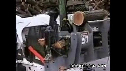 машина за цепене на дърва