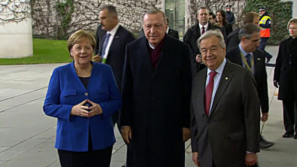 Germany: Erdogan met by Merkel and Guterres as he joins leaders at Berlin Libya conference