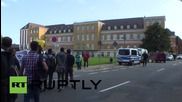 Germany: Protesters march for refugee rights as Interior Minister arrives in Magdeburg