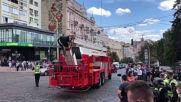 Ukraine: Man takes hostage, threatens to detonate bomb at Kiev's business centre