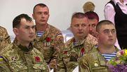 Ukraine: Poroshenko honours veterans, ATO troops at V-Day 2016 dinner