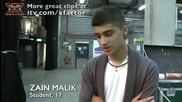Zain's nerves at X Factor bootcamp - itv.com_xfactor