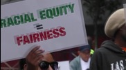 USA: Protesters march in Los Angeles against employment discrimination