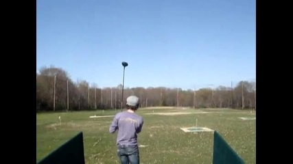 nick being a pro at golfing