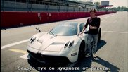 Top Gear лудеят на Монца с Pagani Huayra и Porsche Cayman S