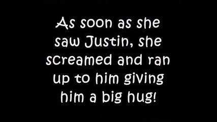 Джъстин се срещна с болното момиченце Hayley Okines..