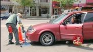Скрита камера :) Безплатно почистване на кола