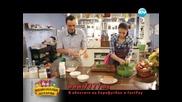 Еклерова торта с ягоди, спаначени крекери с пастет, паста с пилешко и сос. - Бон Апети (10.04.2013)