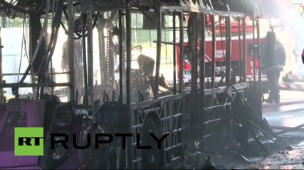 Turkey: Bus explodes in Istanbul after hitting train overpass