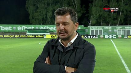 Крушчич: Сами се докарахме дотук, но заслужихме победата