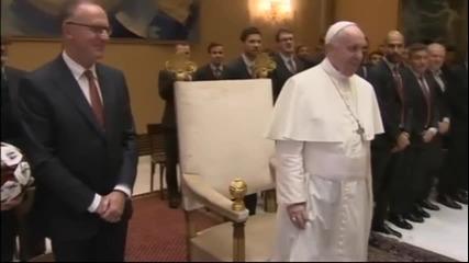 Папата  при срещата с Байерн: Без коментар за разгрома на Рома
