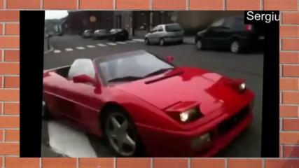 Едно ферари с цвят червен, при идиоти попаднало в плен!