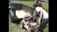 Modified Lawntractors At Daves Farm