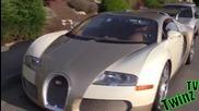 Златотърсачки не се сдържат когато видят Bugatti Veyron / Шега