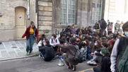 France: Police clash with student protesters blocking high school in Paris