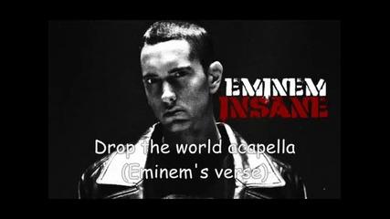 Bg+eng} Eminem - Drop the world (eminem's verse) (acapella)