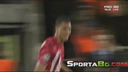 Бордо 1 - 0 Лион 1/4 - финал реванш Шампионска Лига общ резултат 2:3 (07.04.2010)