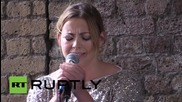 UK: Charlotte Church leads musical protest outside London's Shell HQ