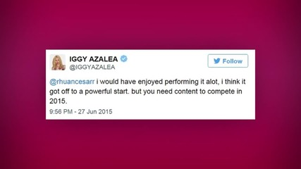 Iggy V Britney: Britney Spears Slams Iggy Azalea's Shade in One Epic Tweet