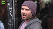 "UK: Russell Brand opens ""revolutionary"" cafe in Hackney"