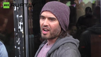 UK: Russell Brand opens