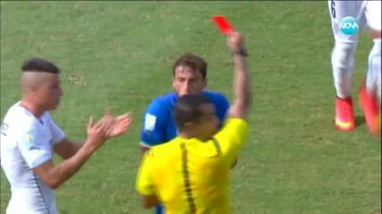 Италия загуби с 0:1 от Уругвай