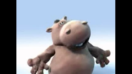 Funny Hippo Sings