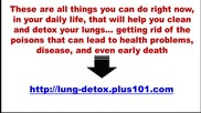 Natural Detoxification Your Lungs