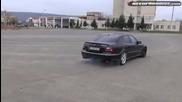 Burnout на Mercedes E55 Amg