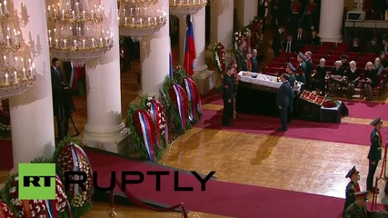 Russia: Farewell ceremony held for Yevgeni Primakov in Moscow