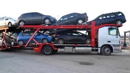 Пътна помощ за Мерцедес Актрос-автовоз от Александруполис до сервиза за ремонт