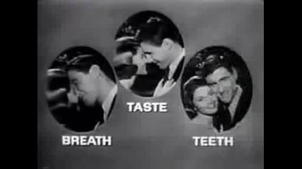 Реклама на Colgate паста за зъби от 1950 година