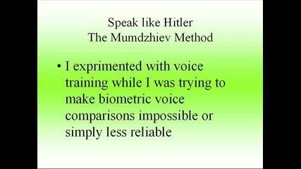 how to speak like hitler get the mumdzhiev method