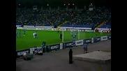 Агитката на Левски на мача Левски - Дебрецен през второто полувреме заснето от the blue boy1