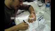Сарп Апак поздравява българските си фенове - 2 март 2012