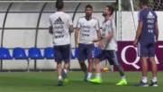 Аржентина тренира за важния мач с Нигерия