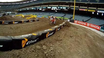 Gopro Hd Суперкрос 2011 началния ден на пистата Anaheim Stadium