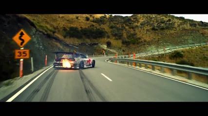 750 коня Mazda Rx-7 Протрива гумите.