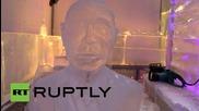 UAE: See artist sculpt ICE bust of President Putin