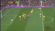 02.03.13 Манчестър Юнайтед 4 - 0 Норич - Най-доброто от мача