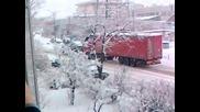 Зимна обстановка гр. Карлово 29.02.2012